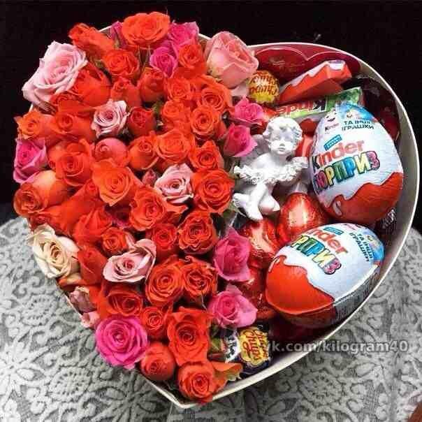 День, хочу подарить девушке цветы или конфеты